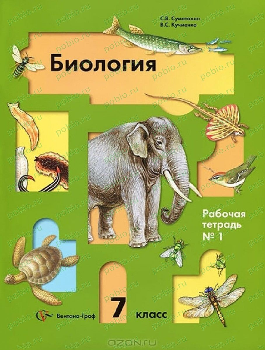 Гдз Путина Биология 7 Класс Тетрадь Сонина